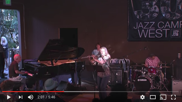 See a clip: Hope Kiah playing Moondance at Jazz Camp in 2013.