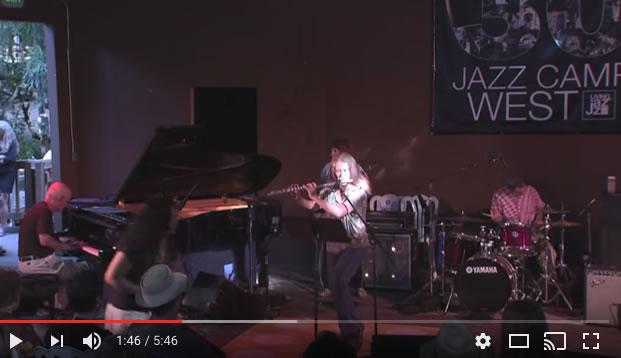 Hope Kiah playing jazz flute to Moondance