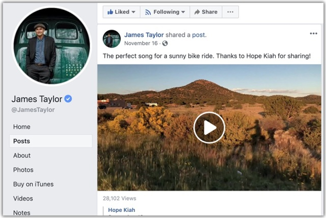 James taylor share my video